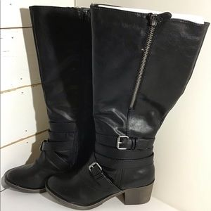 NEW So Boots Quince Black Knee High Size 7.5|
